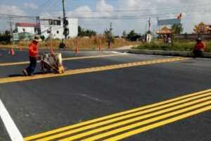 Hướng dẫn thi công sơn kẻ vạch giao thông